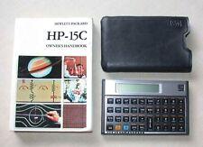 Vintage Hp-15-C Scientific Calculator in Case with Owner's Handbook One Owner