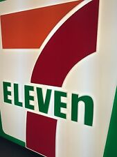 "New 7 Eleven Double Sides Lit Sign Outdoor 61.5""x58.5""x12"" In Original Crate"