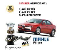 159 1.9 JTDm DIESEL 06-08 Air,Cabin,Fuel /& Oil Filter Service Kit ALFA9b