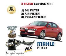 FOR ALFA ROMEO 159 1.9 2.2 JTS PETROL 2005> OIL AIR POLLEN 3 FILTER SERVICE KIT
