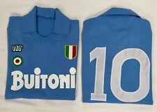 1 maglia MARADONA NAPOLI BUITONI 10 1987/88 tessuto acrilico vintage Calcio