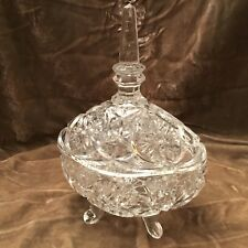 Vintage Small,CRYSTAL,Cut Glass,CANDY BOWL with lid !!! Please read.