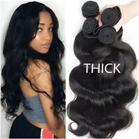 Braizlian 100% Virgin Human Hair Weave 3Bundles Kinky Curly Body Wavy Thick Long