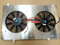 Aluminum Radiator Shroud +Thermo FANS FOR Nissan Y60 PATROL GQ 4.2L petrol 87-97