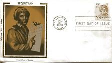 US FDC Scott #1859 Sequoyah. Colorano Cachet. Free Shipping.
