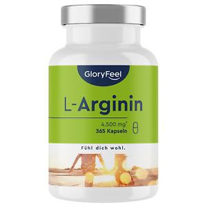 L-Arginin hochdosiert 380 Kapseln Made in Germany VEGAN