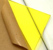 "Cell Cast Acrylic Plexiglass Light Yellow Plastic Sheet 1/8"" X 8"" X 12"" AK260"