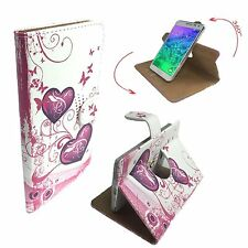 Mobile Phone Book Cover Case For Philips Siwft 4G S626L - Heart Butterfly XL