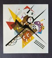 "Wassily Kandinsky ""On White"" Mounted Offset Lithograph Limited ed. 1975"