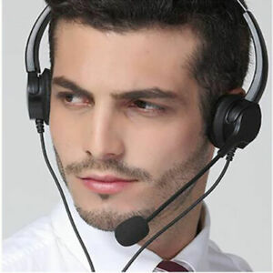 T601 Universal Call Center Customer Service Headphones Microphone USB Earphones