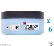 6 x L'oreal Studio Line REMIX Fibre Putty 150ml Each