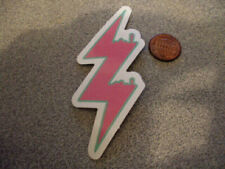PINK BOLT GLOSSY Sticker / Decal Skateboard Laptop phone Stickers NEW