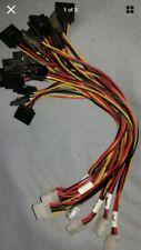 "11"" SATA HD Disk Drive Power Y Cable -4 pin Molex Female to 2x15 pin SATA Female"