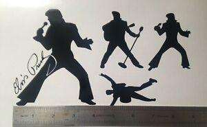 1x Sheet Elvis Presley Fan King Vinyl Sticker Decal Graphic Window Laptop Music