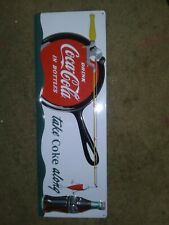Metal Coke A Cola Fishing Sign