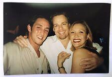 Vintage 90s PHOTO 3 Friends Group Hug On Dance Floor Of Nightclub Hall Bar