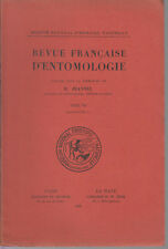 JEANNEL R. / Revue française d'entomologie - Tome VII - Fascicule 4 - 1940