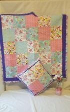 Handmade tummy time blanket with pilow