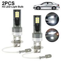 H3 LED Bombillas Antiniebla Kit de Faros 100W 6000K Conducción DRL Lámparas Luz