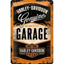 30x20cm Harley Davidson Genuine Garage Embossed Vintage Retro Metal Sign Garage