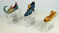 3 Gidis Miniature Women Shoes from 1930's to 1997 Canadian Designed Collectible