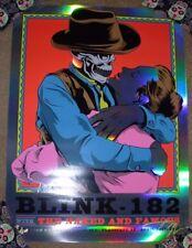 BLINK 182 concert gig poster FOIL print FLAGSTAFF 4-19-17 2017 ian williams