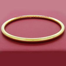 Real Women Solid 18k Yellow Gold GF Round Golf Ladies Girls Bangle Bracelet Band