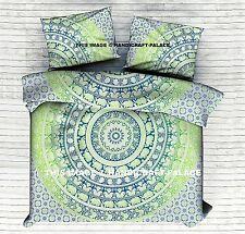 Indian Elephant Mandala Print Bedding Duvet Doona Quilt Cover Queen Blanket Set