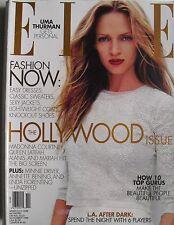 UMA THURMAN November 1999 ELLE Magazine MADONNA  MINNIE DRIVER  ANNETTE BENING