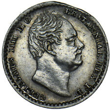 More details for 1832 maundy penny - william iv british silver coin - very nice