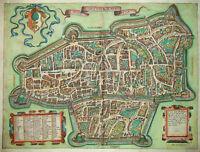 La Imperial' Citta D'Augusta -Extrem rarer Plan aus Lafreri Atlas -Augsburg 1584