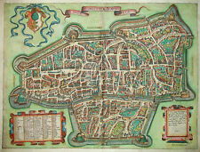 La Imperial 'Città d' Augusta-EXTREMELY RARE plan from lafreri Atlas-Augsburg 15...