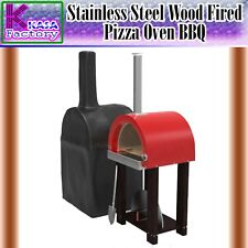 Stainless Steel Wood Fired Pizza Oven BBQ Camping Portable