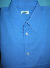pristine Brioni blue cotton FC dress shirt 15 1/2  x 35 -36 made in Italy  (S31)