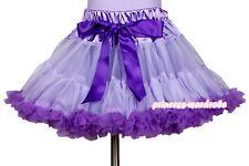 Lavender Purple FULL Pettiskirt Skirt Petti Party Dance Tutu Dress Girl 1-8Year