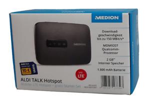 Medion MD 62095 Mobiler LTE Hotspot WLAN Router + Aldi Talk Starter Set