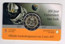 BELGIE 2017 2 EURO COINCARD 200 JAAR UNIVERSITEIT LUIK