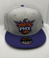 New Era 9FIFTY Phoenix Suns Snapback Hat Cap Gray Heather Purple Bill NEW