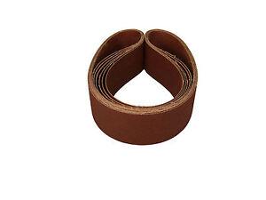 2 X 48 Inch 80 Grit Aluminum Oxide Metal Sanding Belts, 6 Pack