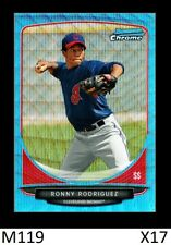 1-2013 BOWMAN CHROME PROSPECTS BLUE WAVE REFRACTOR RONNY RODRIGUEZ TIGERS QTY