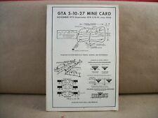 Original Vietnam War Pocket Size 1975 Combat Engineer Mine Card Gta 5-10-27