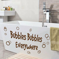 Bubbles Bathroom Washroom Toilet Art Quote Wall Stickers Wall Decals