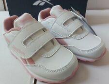 Girls toddler Reebok Trainers White Pink UK 7-9 (EU 24-26)