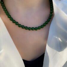 Collier Pierres Naturelles Perles Jade Jadeite  Idéal Cadeau ! Pochette organza