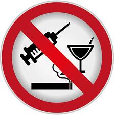 "Ban Stop Sign No Drug Alcohol Smoking Car Bumper Sticker Decal 5"" x 5"""
