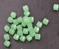 4MM/6MM/8MM Cube Square Faceted Rondelle Crystal Glass Loose Spacer Beads