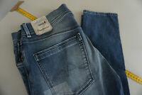 PEPE JEANS Joella Damen high waist stretch Hose patchwork W32 L32 blau NEU P6