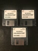 "Vintage Micro Prose Sid Meier's Colonization DOS Game w/Three 3.5"" Disks Tested"