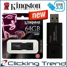 USB Memory Stick USB Flash Drive 3.0 Kingston 64GB Thumb 100mb/s AU LOCAL STOCK