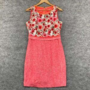 Elie Tahari Womens Dress Size 14 Petite Multicoloured Floral Sleeveless 157.04